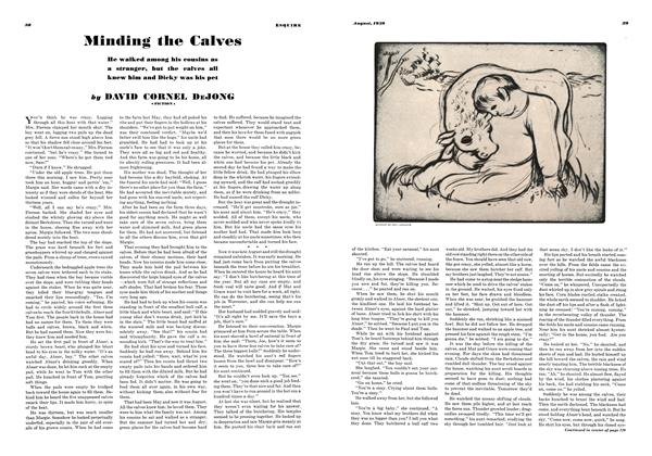 Article Preview: Minding the Calves, AUGUST 1939 1939 | Esquire