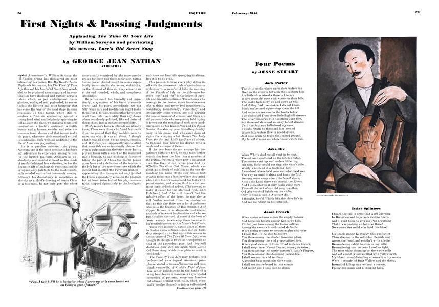 First Nights & Passing Judgments | Esquire | FEBRUARY 1940