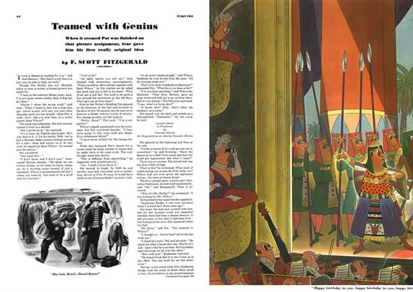 Article Preview: Teamed with Genius, April 1940 | Esquire