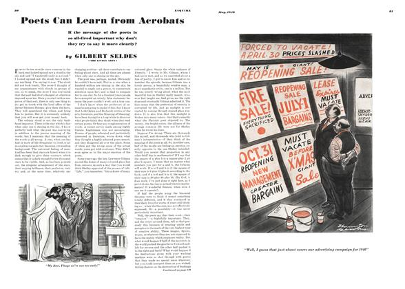 Article Preview: Poets Can Learn from Acrobats, MAY 1940 1940   Esquire
