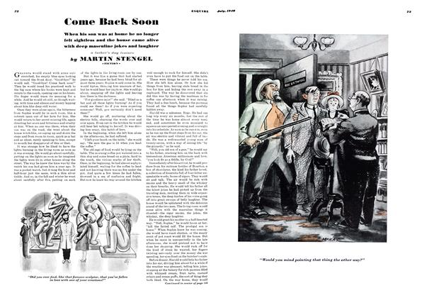Article Preview: Come Back Soon, JULY, 1940 1940 | Esquire