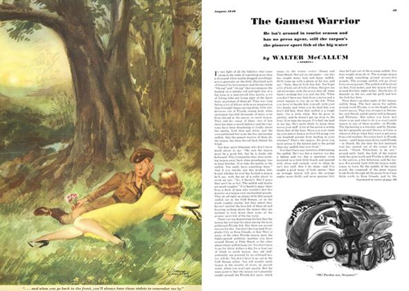 Article Preview: The Gamest Warrior, AUGUST, 1940 1940 | Esquire