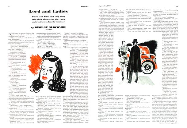 Article Preview: Lord and Ladies, SEPTEMBER, 1940 1940 | Esquire