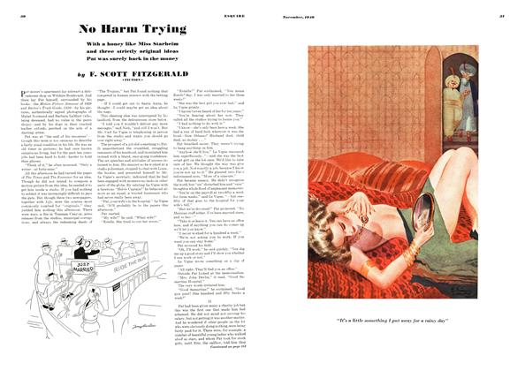 Article Preview: No Harm Trying, NOVEMBER 1940 1940   Esquire