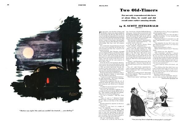 Article Preview: Two Old-Timers, MARCH 1941 1941 | Esquire