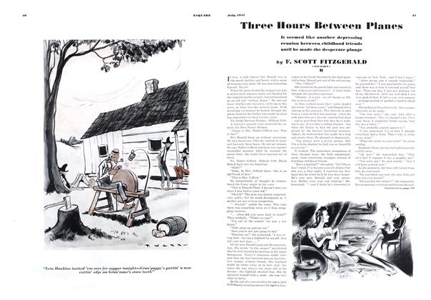Article Preview: Three Hours Between Planes, JULY, 1941 1941 | Esquire
