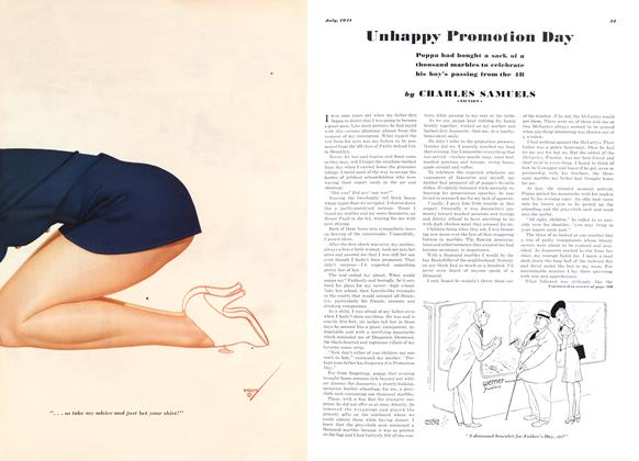 Article Preview: Unhappy Promotion Day, JULY, 1941 1941 | Esquire