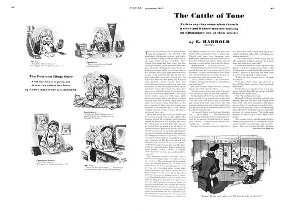 Article Preview: The Cattle of Tone, NOVEMBER 1941 1941 | Esquire