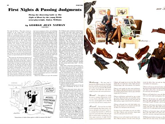 First Nights & Passing Judgments