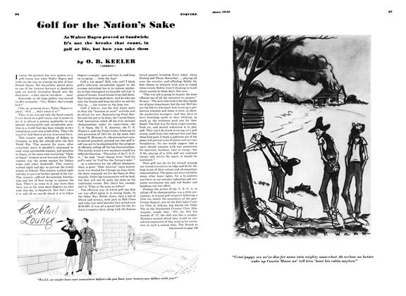 Article Preview: Golf for the Nation's Sake, JUNE 1942 1942 | Esquire