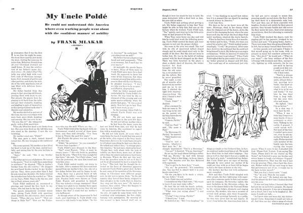 Article Preview: My Uncle Poldé, AUGUST, 1942 1942   Esquire