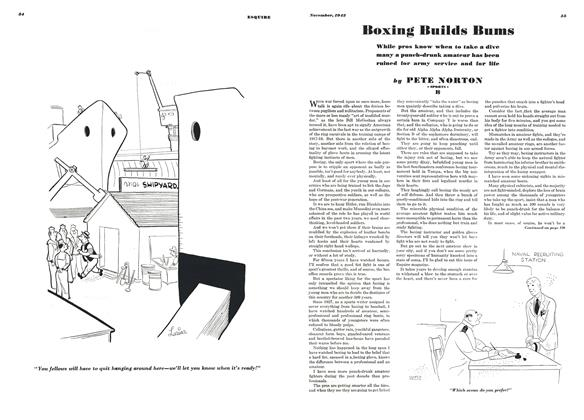 Article Preview: Boxing Builds Bums, NOVEMBER 1942 1942 | Esquire