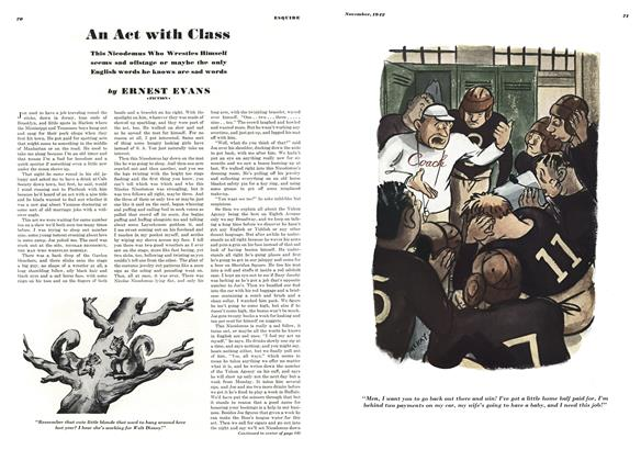 Article Preview: An Act with Class, NOVEMBER 1942 1942 | Esquire