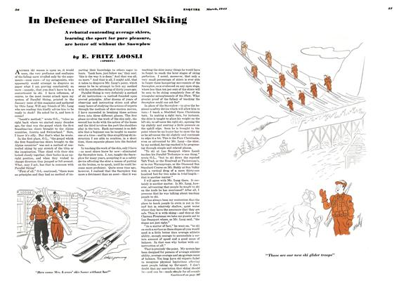 In Defence of Parallel Skiing