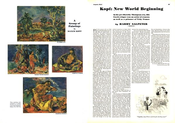 Article Preview: Kopf: New World Beginning, AUGUST 1943 1943 | Esquire