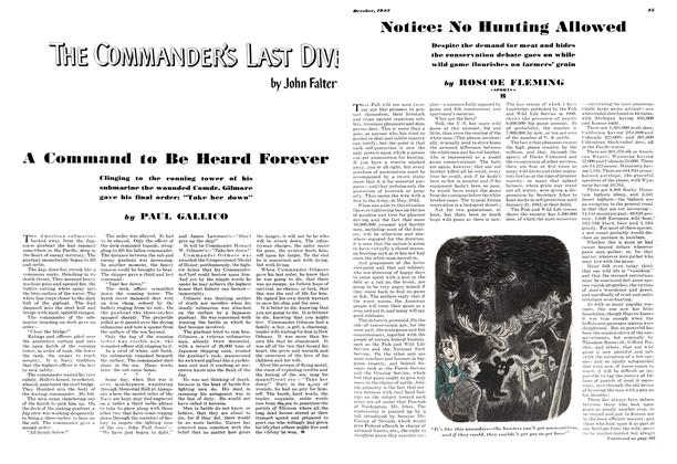 Article Preview: A Command to Be Heard Forever, OCTOBER 1943 1943   Esquire