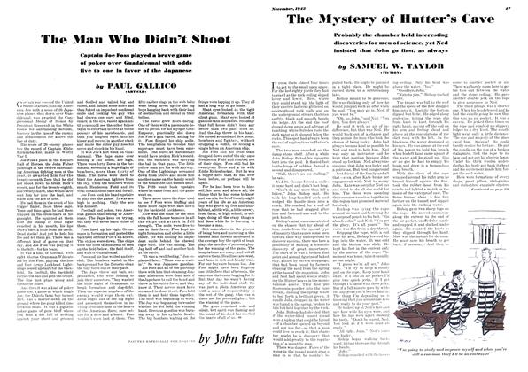 Article Preview: The Man Who Didn't Shoot, NOVEMBER 1943 1943 | Esquire