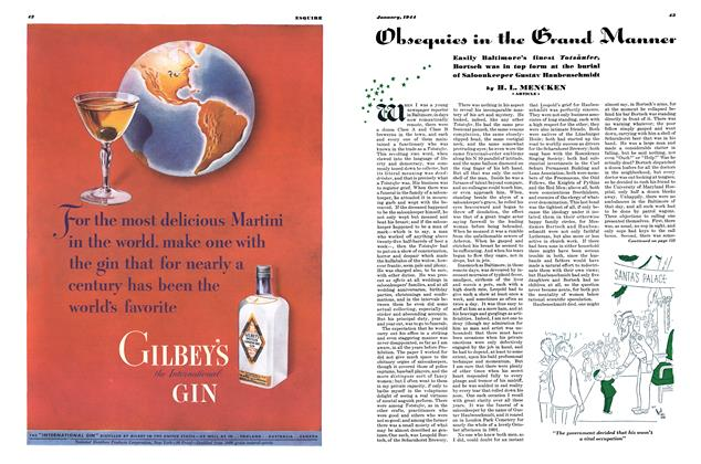 Article Preview: Obsequies in the Grand Manner, JANUARY, 1944 1944 | Esquire