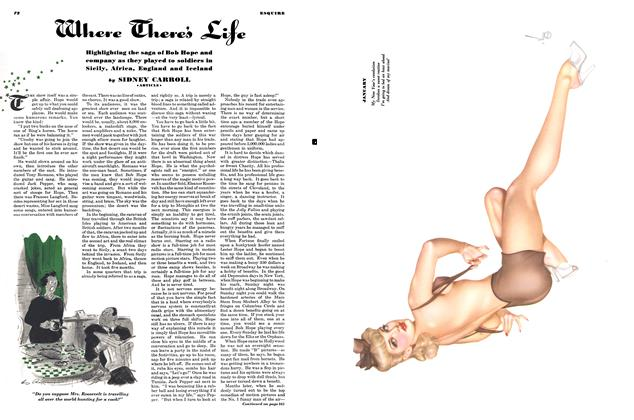 Article Preview: Where There's Life, JANUARY, 1944 1944   Esquire
