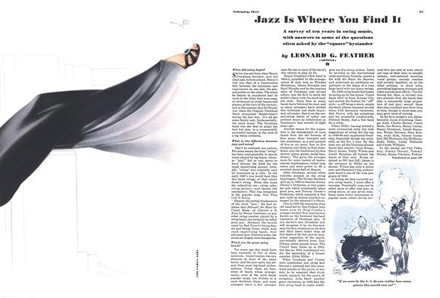 Article Preview: Jazz Is Where You Find It, February 1944 | Esquire
