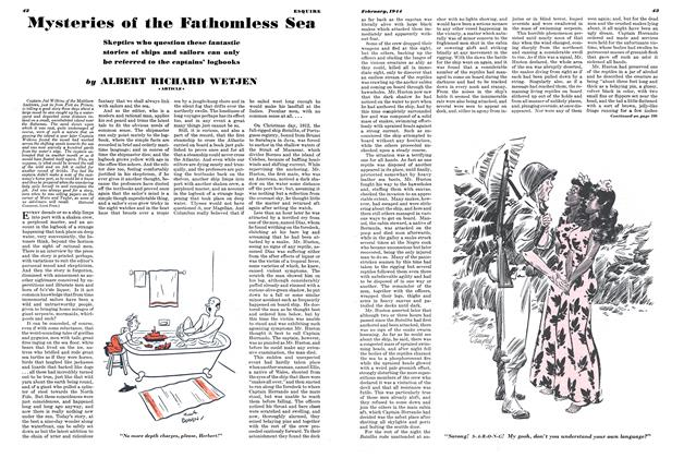 Article Preview: Mysteries of the Fathomless Sea, February 1944 | Esquire