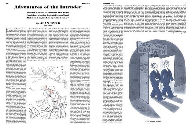 Article Preview: Adventures of the Intruder, February 1944 | Esquire