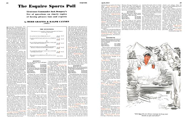 The Esquire Sports Poll