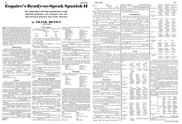 Esquire's Ready-to-Speak Spanish II