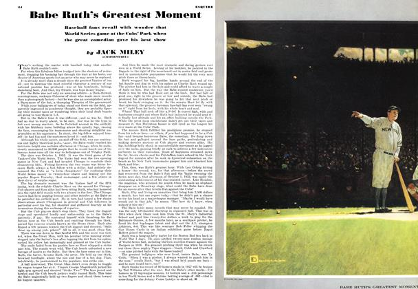 Babe Ruth's Greatest Moment