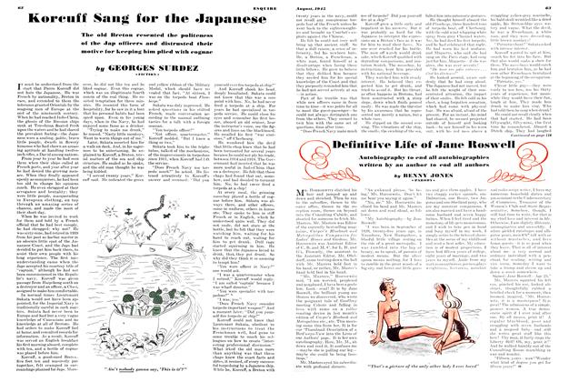Article Preview: Korcuff Sung for the Japanese, AUGUST 1945 1945 | Esquire