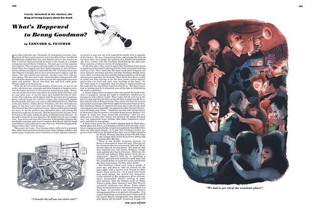 Article Preview: What's Happened to Benny Goodman?, April 1946 | Esquire