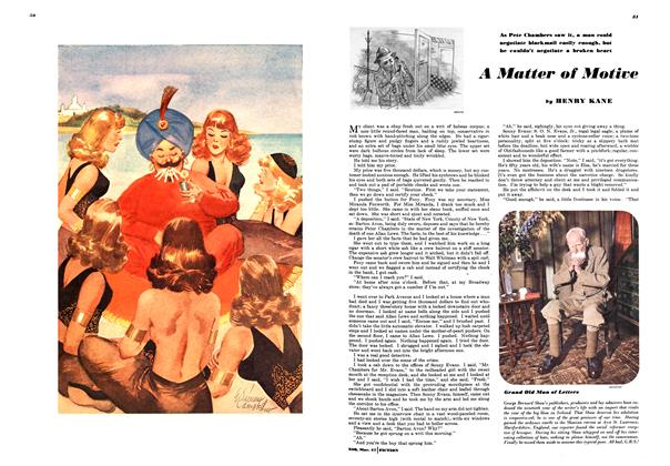 Article Preview: A Matter of Motive, March 1947 | Esquire