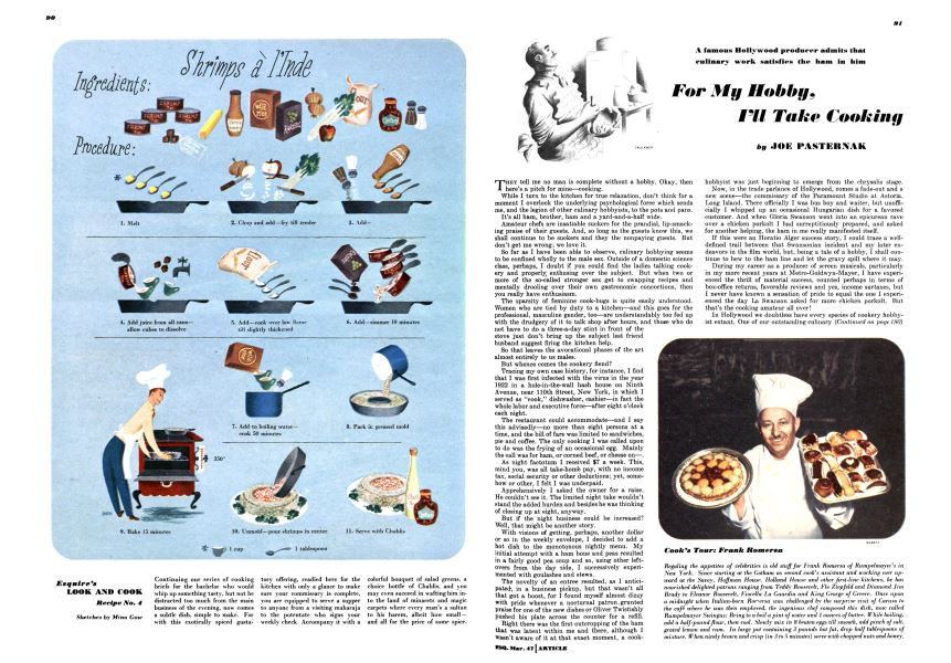 For My Hobby, I'll Take Cooking | Esquire | MARCH, 1947