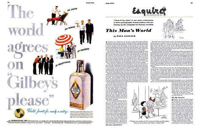 Article Preview: This Man's World, July 1947 | Esquire