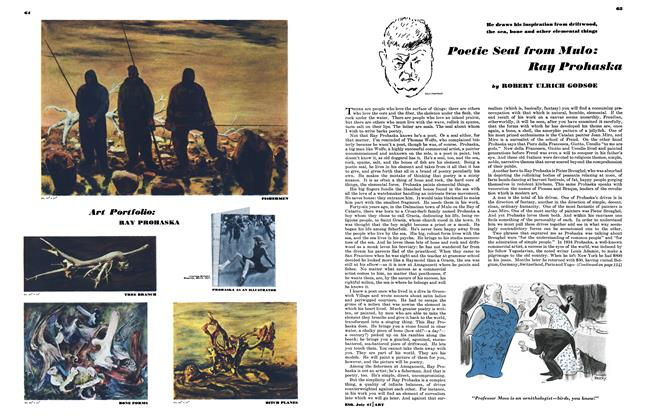 Article Preview: Poetic Seal From Mulo: Ray Prohaska, July 1947 | Esquire