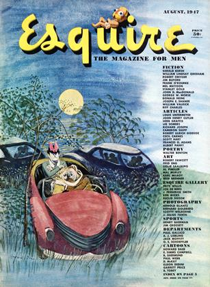Cover for the August 1947 issue