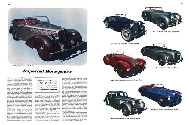 Article Preview: Imported Horsepower, FEBRUARY, 1948 1948 | Esquire