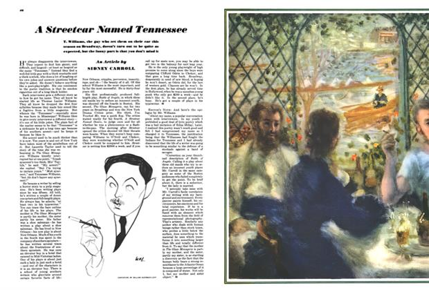 Article Preview: A Streetcar Named Tennessee, MAY, 1948 1948 | Esquire