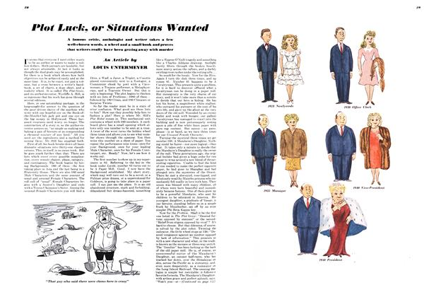 Article Preview: Plot Luck, or Situations Wanted, JULY 1948 1948 | Esquire
