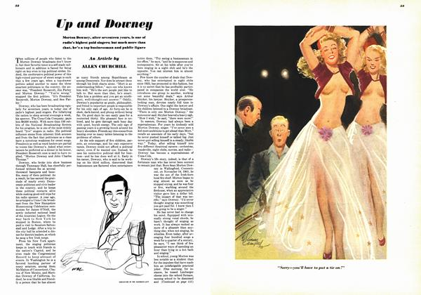 Article Preview: Up and Downey, OCTOBER, 1948 1948 | Esquire