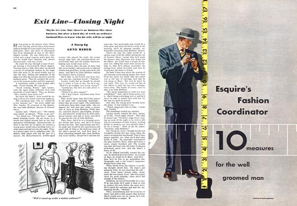 Article Preview: Exit Line—closing Night, FEBRUARY, 1949 1949 | Esquire