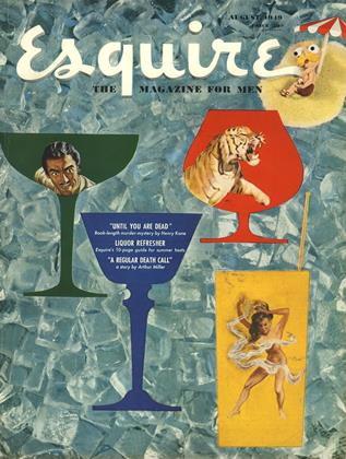 Cover for the August 1949 issue
