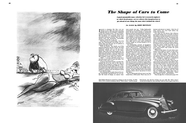 Article Preview: The Shape of Cars to Come, AUGUST, 1949 1949 | Esquire