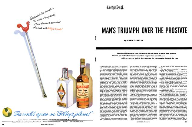 Article Preview: Man's Triumph Over the Prostate, NOVEMBER, 1949 1949 | Esquire