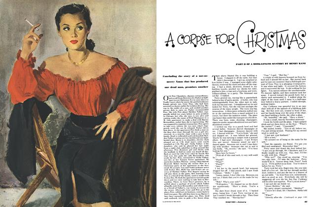 Article Preview: A Corpse for Chrismas, January 1950 | Esquire