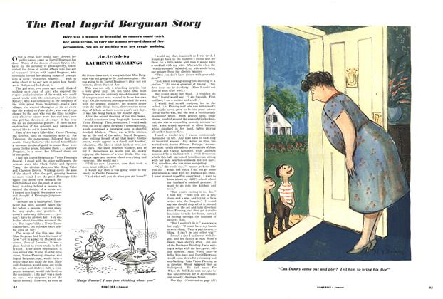 Article Preview: The Real Ingrid Bergman Storg, AUGUST, 1950 1950 | Esquire