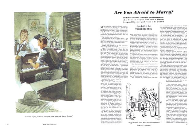 Article Preview: Are You Afraid to Marry?, SEPTEMBER, 1950 1950 | Esquire