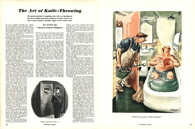 Article Preview: The Art of Knife-Throwing, OCTOBER, 1950 1950 | Esquire