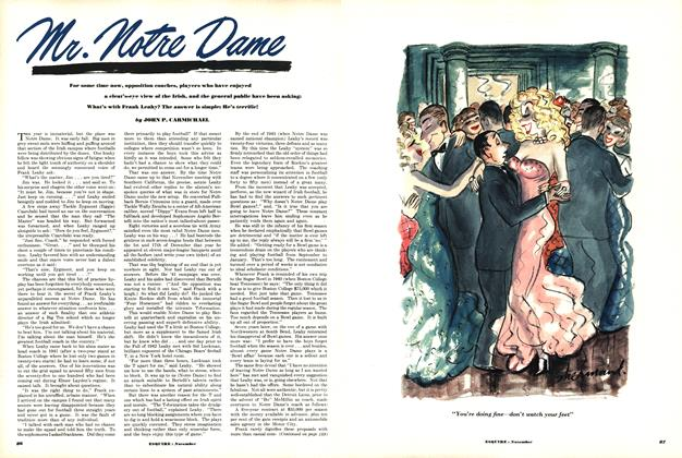 Article Preview: Mr. Notre Dame, November 1950 | Esquire