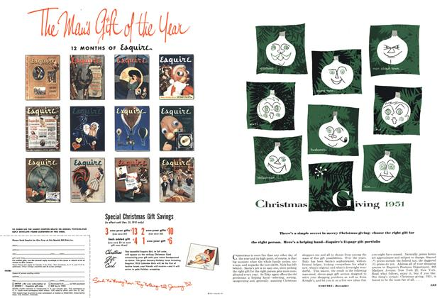 Article Preview: Christmas Giving 1051, DECEMBER, 1951 1951   Esquire
